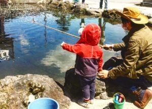 子どもと管理釣り場