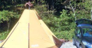 初めてのソロキャンプでの設営