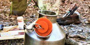 ケリーケトルでお湯沸かす