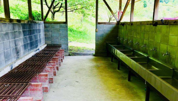 創造の森キャンプ場の炊事場