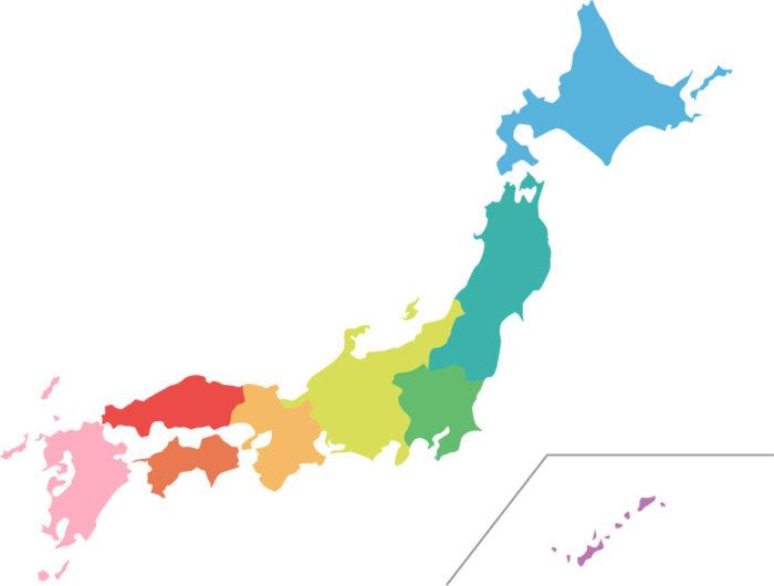 北海道から九州