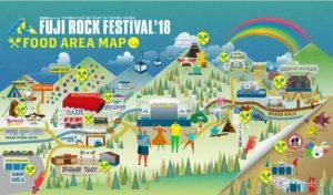 フジロック2018ののマップ