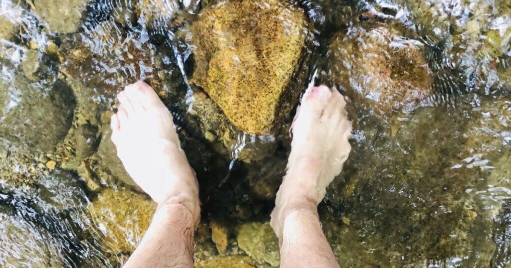 川が冷たくて気持ちいい