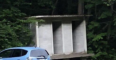 川場谷野営場のトイレ