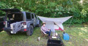 川場村野営上でキャンプ