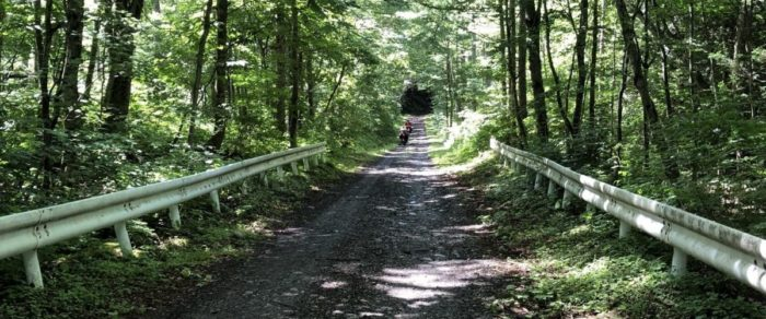 川場野営場までの山道