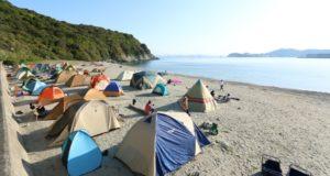 砂浜テント