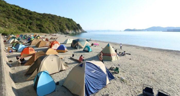 テント設営時には距離を考える