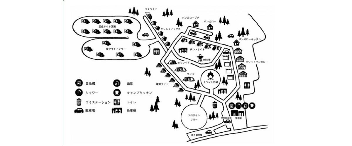 皇海山キャンプフォレストの地図