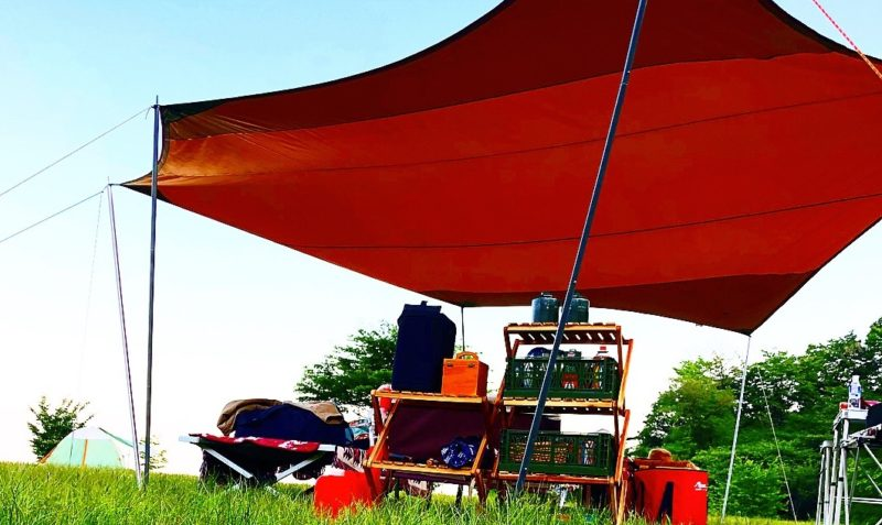 雨キャンプの対策と注意点:タープがあった方が良い