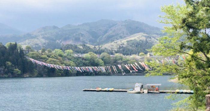赤谷湖のボート乗り場