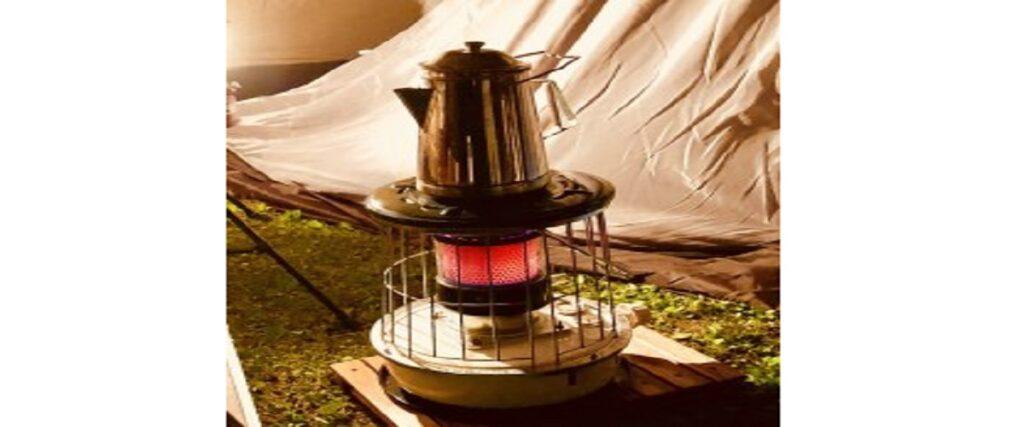 アルパカストーブをテントの中に入れる