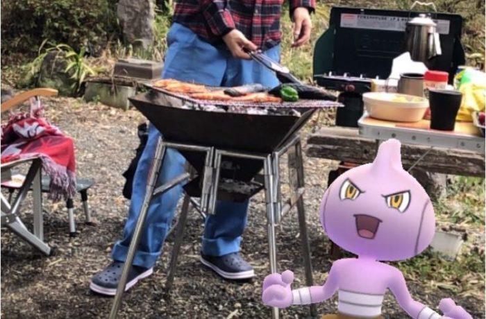 ファミリーキャンプの料理:バーベキュー