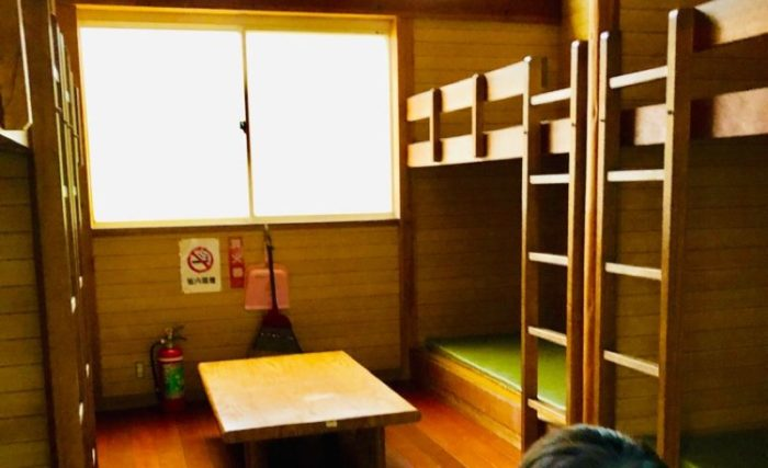 園家山バンガローの室内