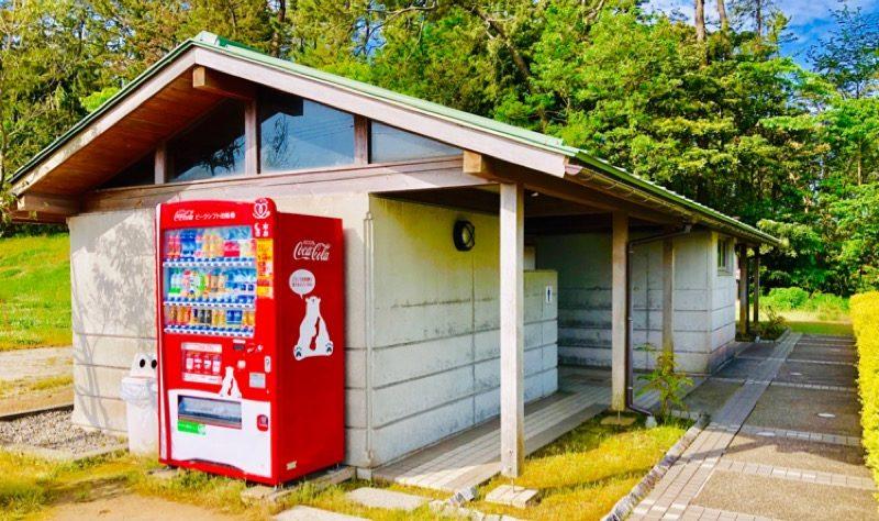 園家山キャンプ場交流施設付近のトイレ