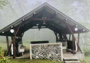 ほたか牧場キャンプ場の炊事場(外観)