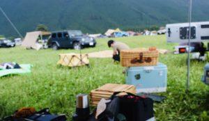 ふもとっぱらキャンプ場でキャンプサイトの撤収