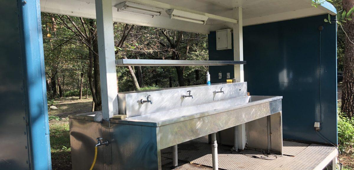 ひするまキャンプ場の水道
