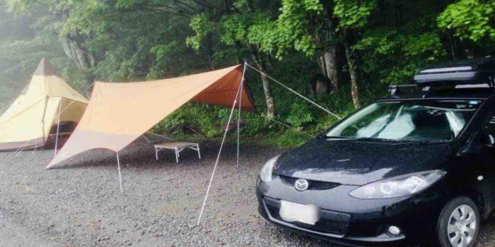 デミオでのキャンプ