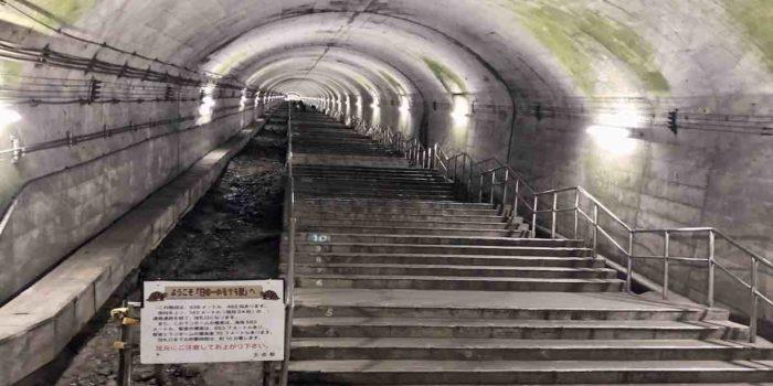 モグラ駅の階段