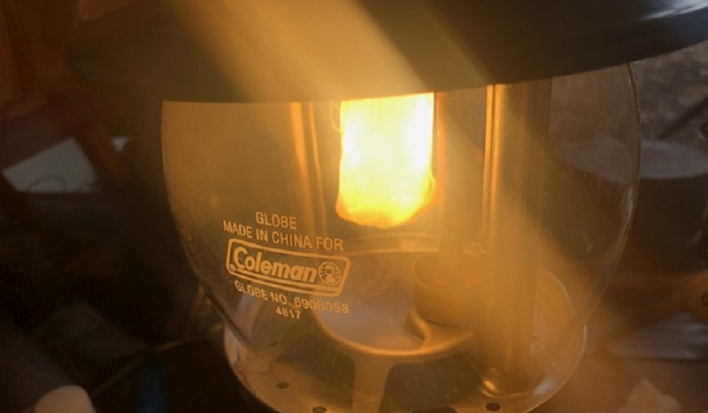 ケロシンランタン639C700が無事に点灯