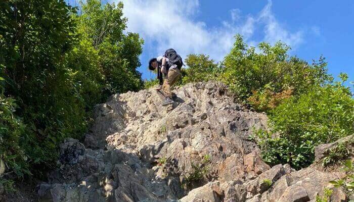 谷川岳の岩場